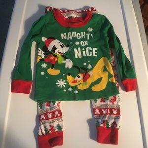 Disney Boys Mickey & Pluto Pajama Set.  Size 3